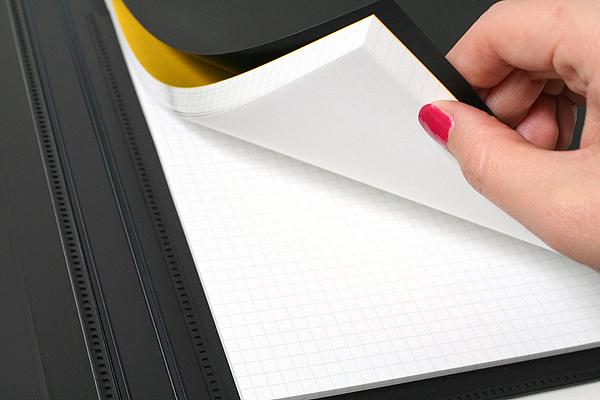 "Maruman Mnemosyne Notepad Holder with 5 Pockets + Notepad - A5 (5.8"" X 8.3"") - 5 mm X 5 mm Graph - 70 Sheets - Bundle of 5 - MARUMAN HN188F BUNDLE"