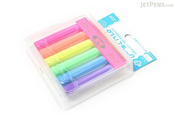 Rikagaku Dustless Fluorescent Chalk - 6 Color Set - RIKAGAKU DCK-6-6C