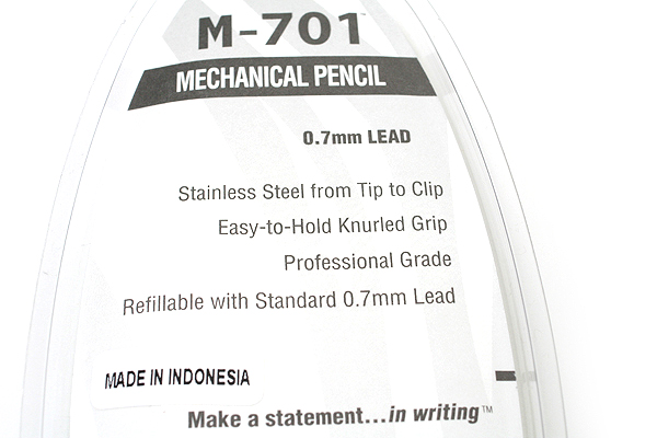 Zebra M-701 Stainless Steel Mechanical Pencil - 0.7 mm - ZEBRA 59411