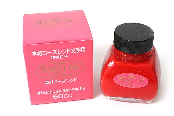 Platinum Pigment Ink - 60 ml Bottle - Rose Red - PLATINUM INKG-1500 20