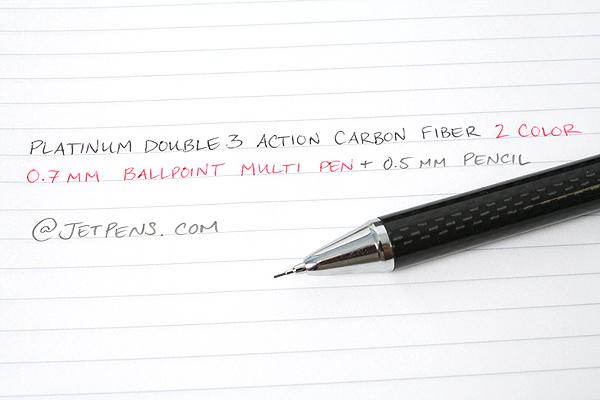 Platinum MWBC-5000 Carbon Fiber 2 Color 0.7 mm Ballpoint Multi Pen + 0.5 mm Pencil - PLATINUM MWBC-5000 13