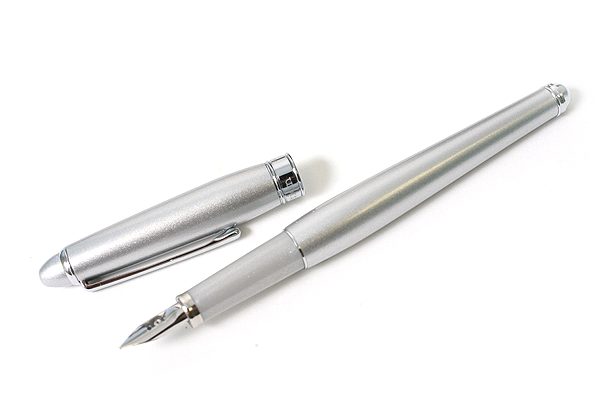 Platinum Affection Fountain Pen - Fine Nib - Silver Body - PLATINUM PAF-5000-9