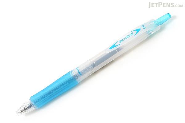 Pilot Acroball Ballpoint Pen - 0.5 mm - Soft Blue Body - Black Ink - PILOT BAB-15EF-SLB