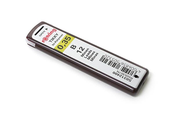Rotring Tikky Hi-Polymer Pencil Lead - 0.35 mm - B - ROTRING R505307