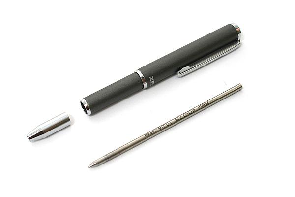 Zebra SL-F1 Mini Ballpoint Pen - 0.7 mm - Gray Body - Black Ink - ZEBRA BA55-GR