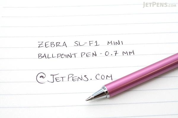 Zebra SL-F1 Mini Ballpoint Pen - 0.7 mm - Pink Body - Black Ink - ZEBRA BA55-P