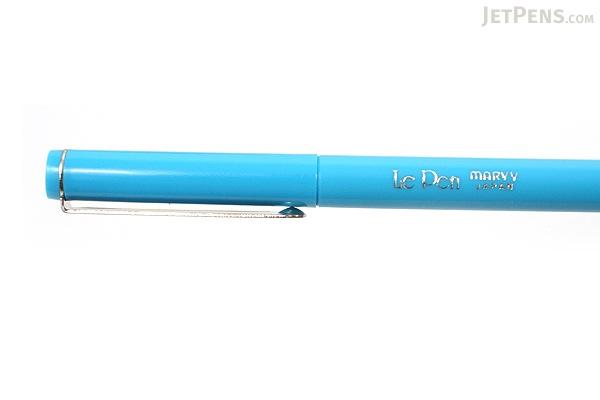 Marvy Le Pen Marker Pen - Fine Point - Light Blue - MARVY 43140