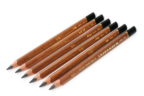 Koh-I-Noor Triograph Graphite Pencil - 2B - Pack of 6 - KOH-I-NOOR FA1830.2B