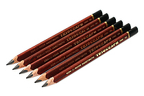 Koh-I-Noor Triograph Graphite Pencil - 6B - Pack of 6 - KOH-I-NOOR FA1830.6B