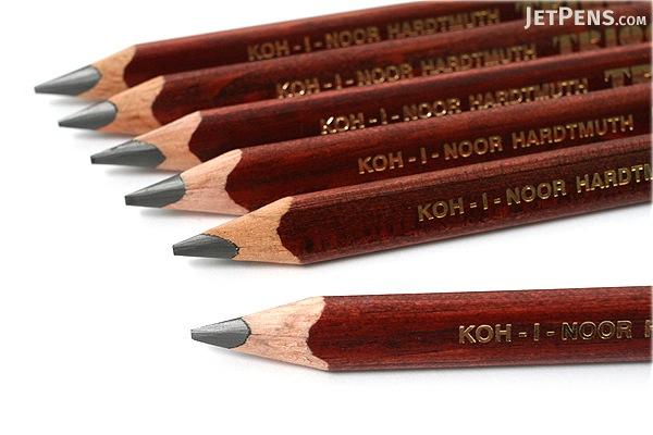Koh-I-Noor Triograph Graphite Pencil - 6B - Pack of 6 - KOH-I-NOOR FA1830.6B