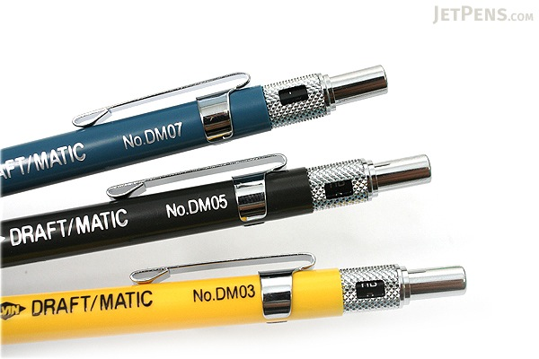 Alvin Draft-Matic Drafting Pencil - 3 Pencil Set - 0.3 mm + 0.5 mm + 0.7 mm - ALVIN DM357C