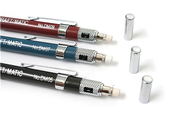 Alvin Draft-Matic Drafting Pencil - 3 Pencil Set - 0.5 mm + 0.7 mm + 0.9 mm - ALVIN DM579C