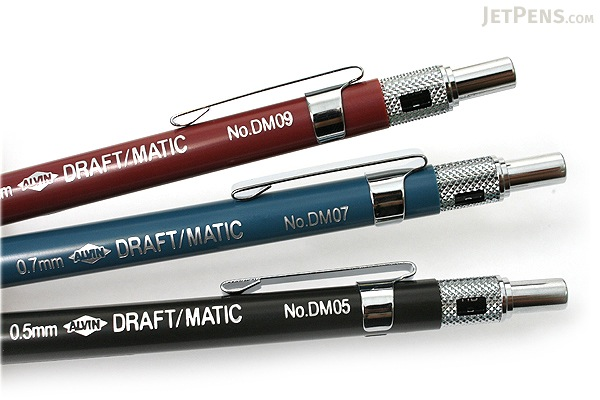 Alvin Draft-Matic Drafting Pencil - 3 Pencil Set - 0.5 mm + 0.7 mm + 0.9 mm - ALVIN DM579C