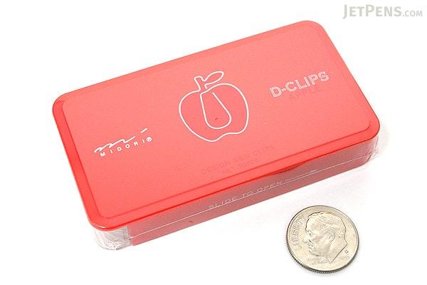 Midori D-Clips Paper Clips - Garden Series - Apple - Box of 30 - MIDORI 43218-006