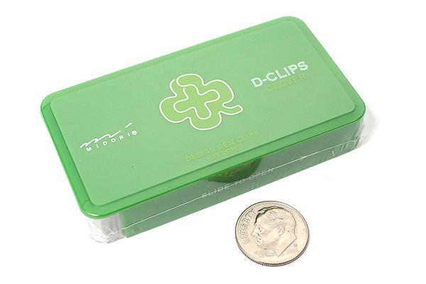 Midori D-Clips Paper Clips - Garden Series - Clover - Box of 30 - MIDORI 43217-006