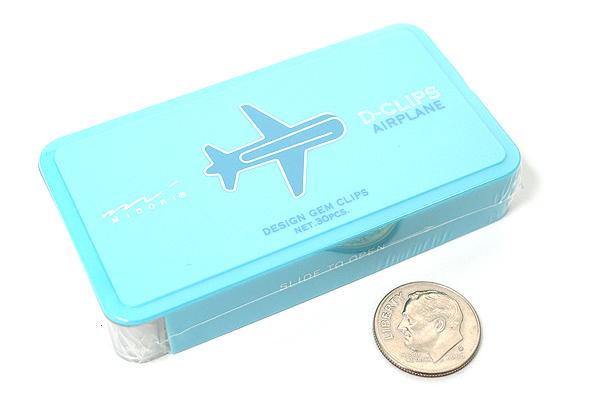 Midori D-Clips Paper Clips - Vehicle Series - Airplane - Box of 30 - MIDORI 43194-006