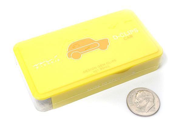 Midori D-Clips Paper Clips - Vehicle Series - Car - Box of 30 - MIDORI 43195-006