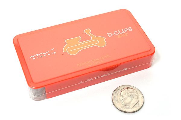 Midori D-Clips Paper Clips - Vehicle Series - Bike - Box of 30 - MIDORI 43196-006