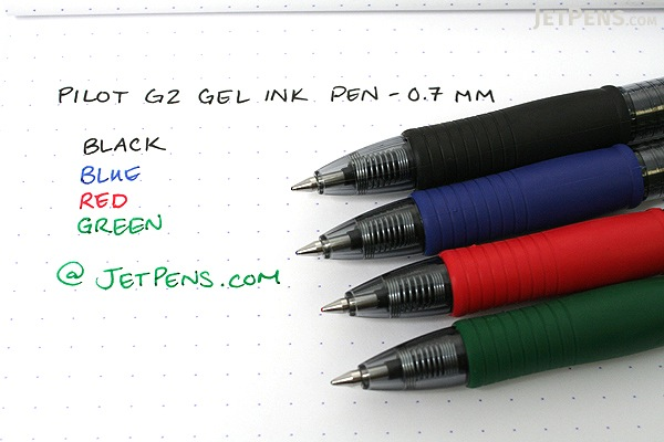 Pilot G2 Gel Pen - 0.7 mm - Green - PILOT G27--GRN-BC