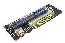 Pilot G-2 Gel Pen - 0.7 mm - Blue - Pack of 2 - PILOT 31032