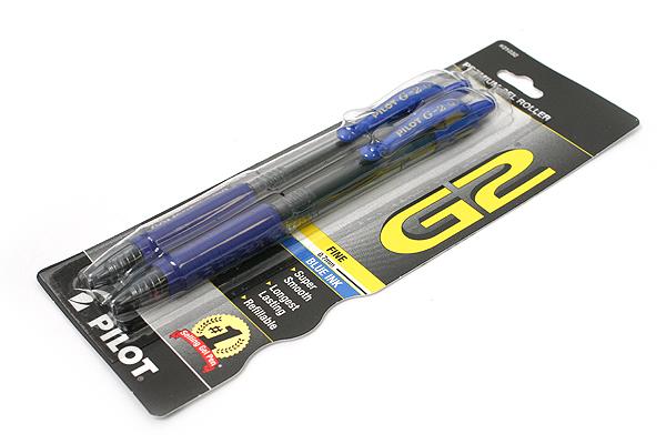 Pilot G-2 Gel Pen - 0.7 mm - Blue - Pack of 2 - PILOT 31032