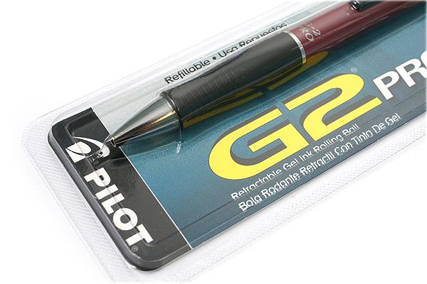 Pilot G-2 Pro Gel Ink Pen - 0.7 mm - Red Body - Black Ink - PILOT 31097
