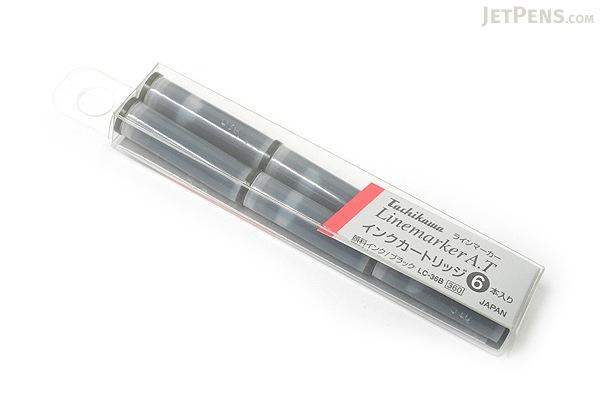 Tachikawa Linemarker A.T Sketch Pen Refill Cartridge - Black Ink - Pack of 6 - TACHIKAWA LC-36B