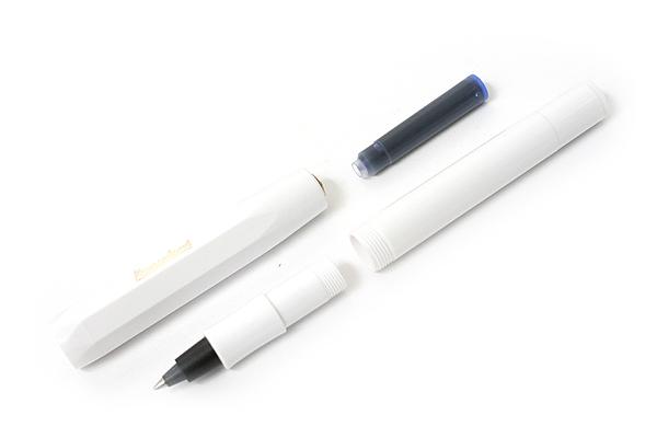 Kaweco Classic Sport Ink Cartridge Roller Ball Pen - Medium Point - White Body - KAWECO 10000029