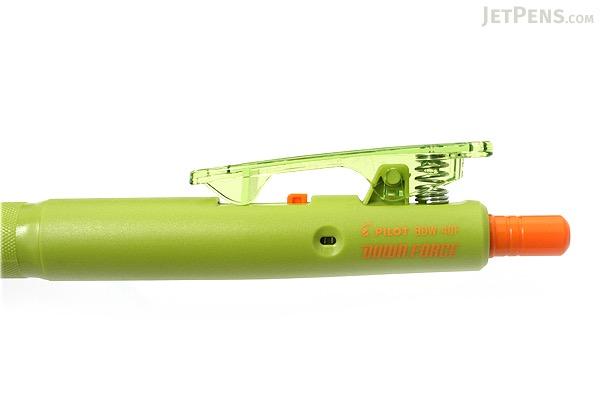Pilot Down Force Ballpoint Pen - 0.7 mm - Moss Green Body - Black Ink - PILOT BDW-40F-MG