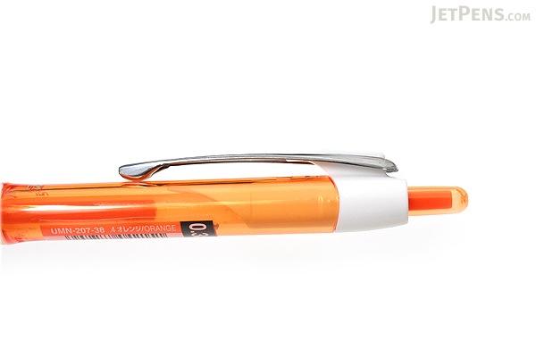Uni Signo 207 Retractable Gel Ink Pen - 0.38 mm - Orange Body - Orange Ink - UNI UMN20738.4