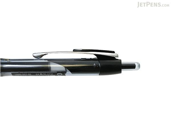 Uni-ball Signo 207 Retractable Gel Pen - 0.5 mm - Black Body - Black Ink - UNI UMN20705.24