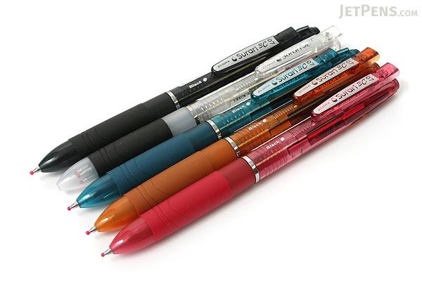 Zebra Surari 3C 3 Color Emulsion Ink Multi Pen - 0.7 mm - Pink Body - ZEBRA B3A11-P