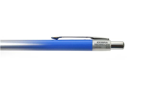 Zebra Techno Line Limited Edition Ballpoint Pen - 0.4 mm - Black Ink - Blue Body - ZEBRA BA44-BL