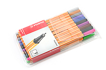 Stabilo Point 88 Fineliner Marker Pen - 0.4 mm - 20 Color Set - Wallet - STABILO SW8820
