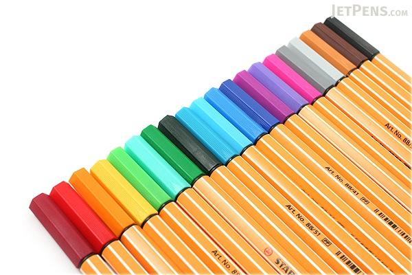 Stabilo Point 88 Fineliner Marker Pen 0 4 Mm 20 Color