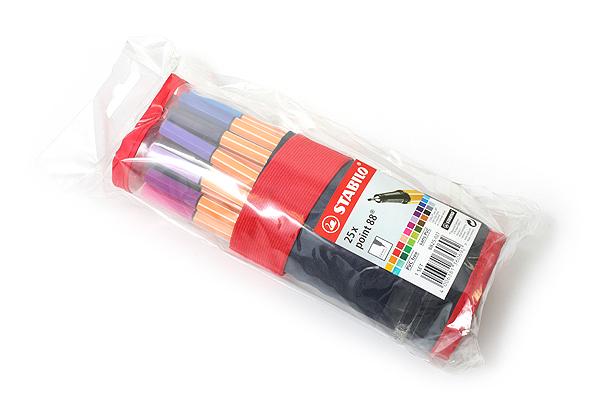 Stabilo Point 88 Fineliner Marker Pen - 0.4 mm - 25 Color Rollup Set - STABILO 8825-021