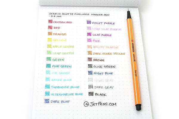 Stabilo Point 88 Fineliner Marker Pen - 0.4 mm - Leaf Green - STABILO 88-43