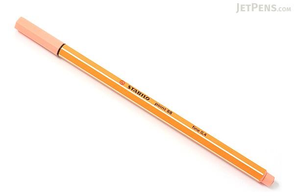 Stabilo Point 88 Fineliner Marker Pen - 0.4 mm - Apricot Orange - STABILO 88-26