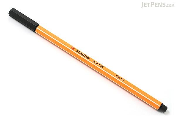 Stabilo Point 88 Fineliner Marker Pen - 0.4 mm - Black - STABILO 88-46