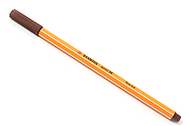 Stabilo Point 88 Fineliner Marker Pen - 0.4 mm - Brown - STABILO SW88-45