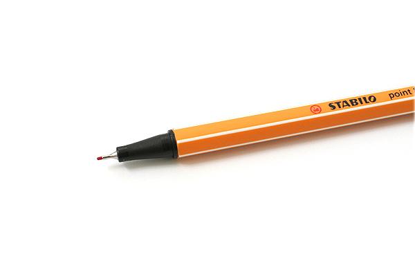 Stabilo Point 88 Fineliner Marker Pen - 0.4 mm - Crimson Red - STABILO 88-50