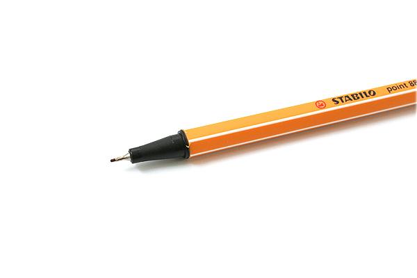 Stabilo Point 88 Fineliner Marker Pen - 0.4 mm - Dark Ochre Yellow - STABILO 88-89