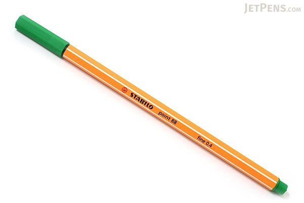 Stabilo Point 88 Fineliner Marker Pen - 0.4 mm - Green - STABILO 88-36