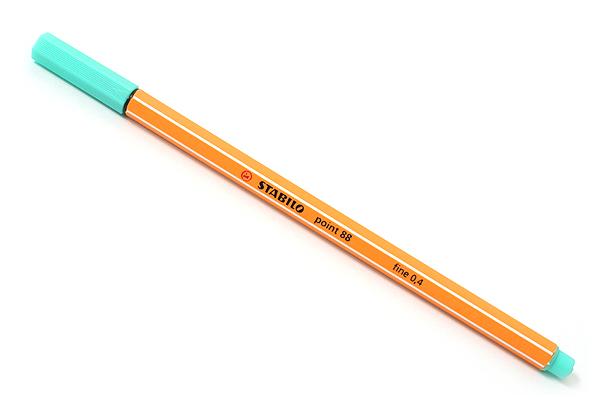 Stabilo Point 88 Fineliner Marker Pen - 0.4 mm - Ice Green - STABILO SW88-13