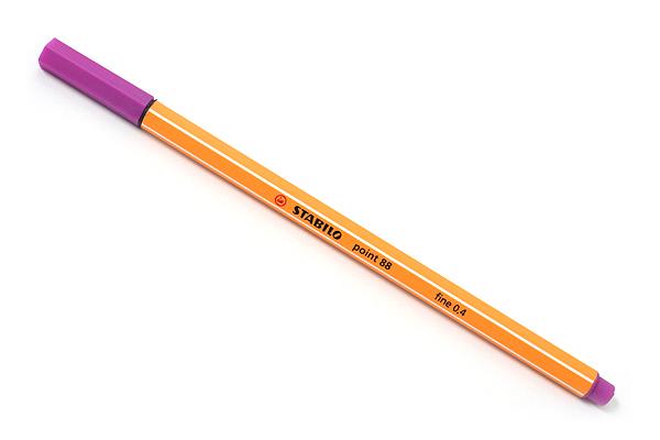 Stabilo Point 88 Fineliner Marker Pen - 0.4 mm - Lilac Purple - STABILO 88-58