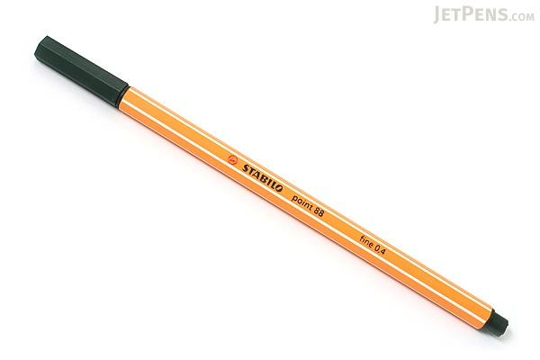 Stabilo Point 88 Fineliner Marker Pen - 0.4 mm - Olive Green - STABILO 88-63