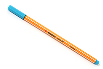 Stabilo Point 88 Fineliner Marker Pen - 0.4 mm - Turquoise Blue - STABILO 88-51