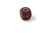E+M Cube 5.5 mm Lead Sharpener - Mahogany - E+M 2881-3