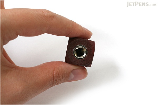 E+M Cube 5.5 mm Lead Sharpener - Mahogany - E+M 2881-3