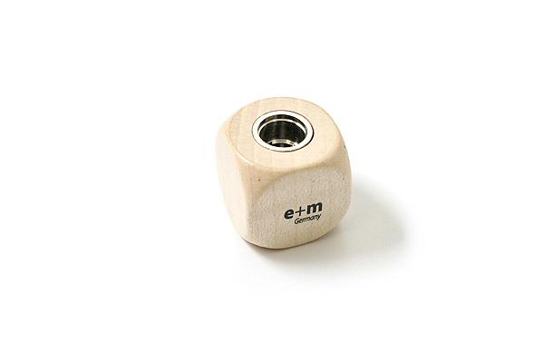 E+M Cube 5.5 mm Lead Sharpener - Maple - E+M 2881-40